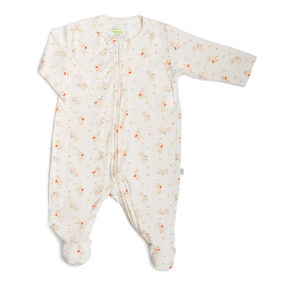 Crowned Lamb - Long-sleeved Zip-up Sleepsuit with Footie by simplylifebaby