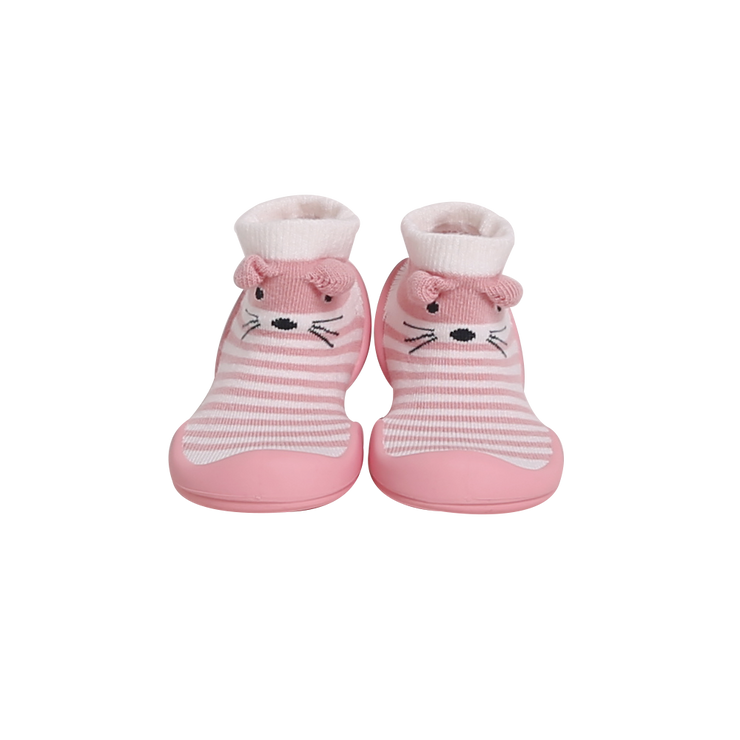 Ggomoosin - Pompom Mouse (Pink) Baby Shoes