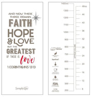 Faith, Hope & Love - 1500 ml Water Bottle with Screw Lid - Simply Life