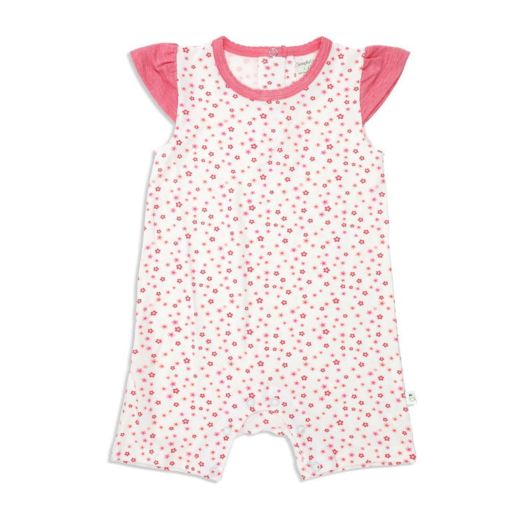 Floral - Girls' Shortall (Cap Sleeves) - Simply Life