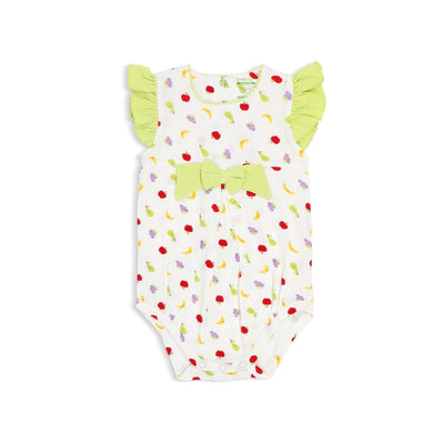 Fruits - Girls Romper with Frilled-sleeves and Bow by simplylifebaby
