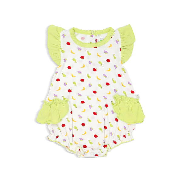 Fruits - Romper with Frilled-sleeves and Ruffled Sides by simplylifebaby