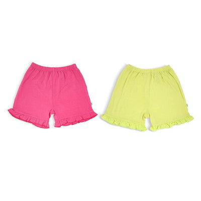 Fuchsia & Lime - Shorts with Add Ruffles (2-Pack Set) by simplylifebaby