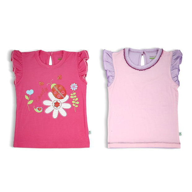 Fuchsia Pink/Lilac - Short-sleeved T-shirt (2-Pack Set) by simplylifebaby