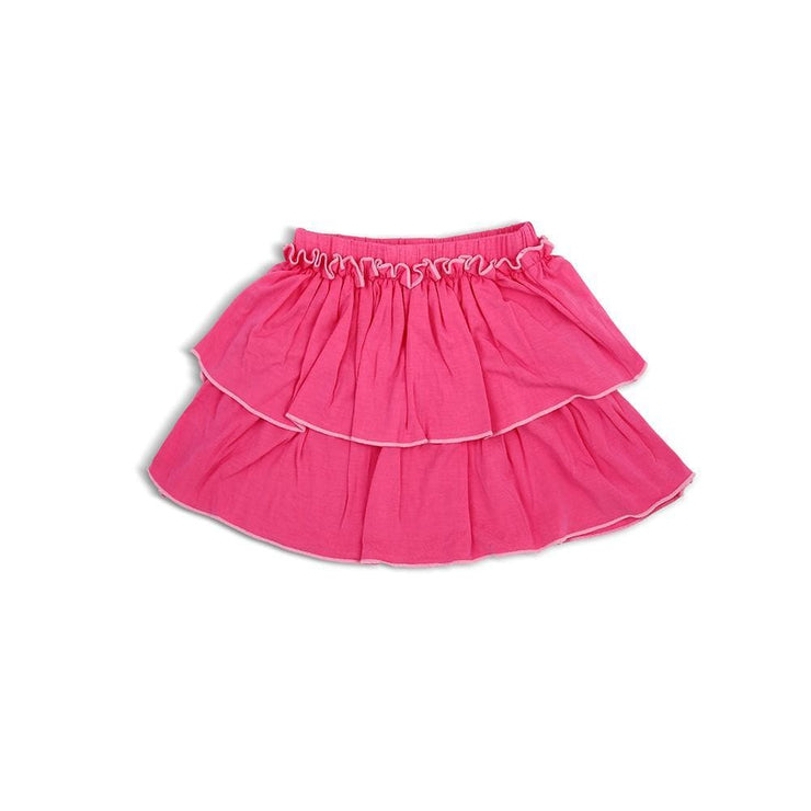 Fuchsia - Skirt with Double Ruffles and Roll Edged by simplylifebaby