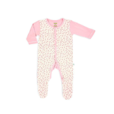 Full of Life - Long-sleeved Button Sleepsuit with Footie - Simply Life