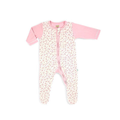 Full of Life - Long-sleeved Zip-up Sleepsuit with Footie - Simply Life