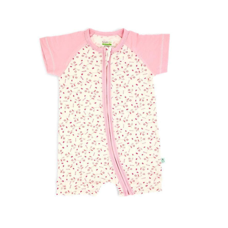 Full of Life - Short-sleeved Zip-up Shortall - Simply Life