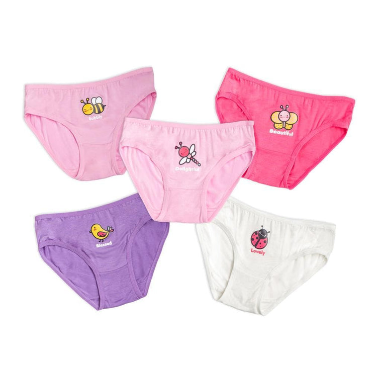 Girls Briefs (5-Pack Set) - Garden by simplylifebaby
