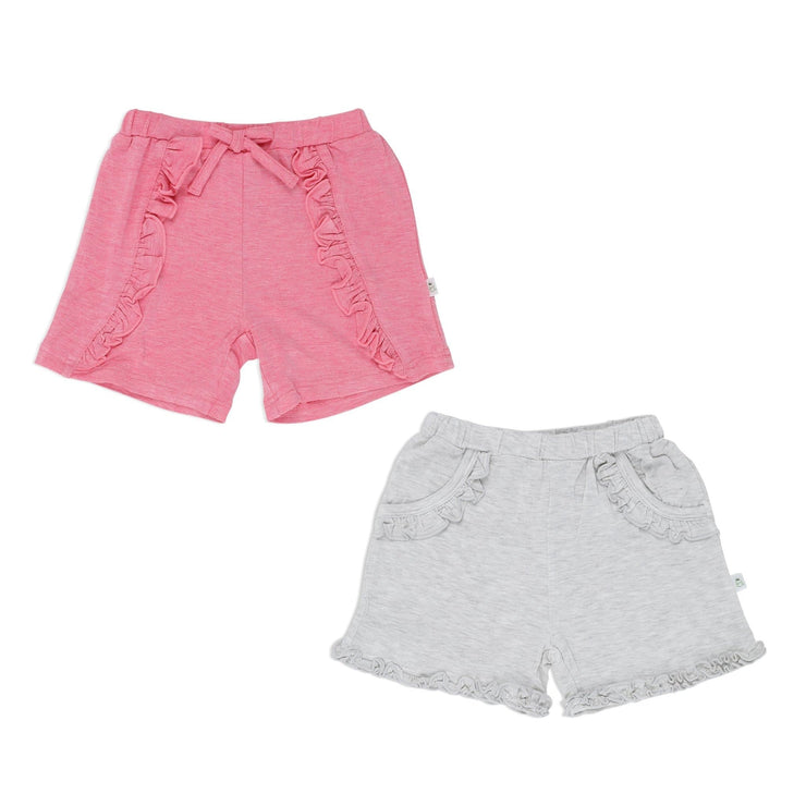 Girls - Shorts with Ruffles (2-Pack Set) - Simply Life