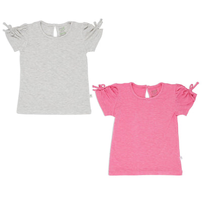 Girls' Tee - Gartherised Sleeves (pack of 2) - Simply Life