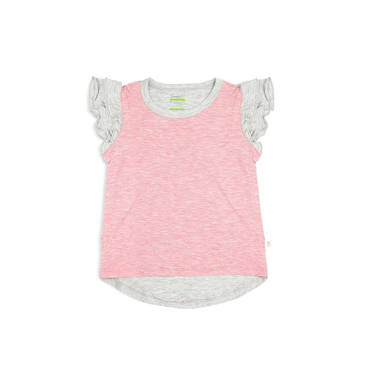 Girls' Tee with Double Frill Sleeves by simplylifebaby