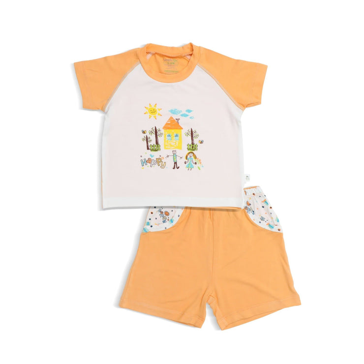 Happy - Shorts & Tee Set by simplylifebaby