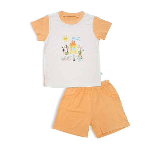 Happy - Shorts & Tee Set with Spot Print (mock pockets) by simplylifebaby
