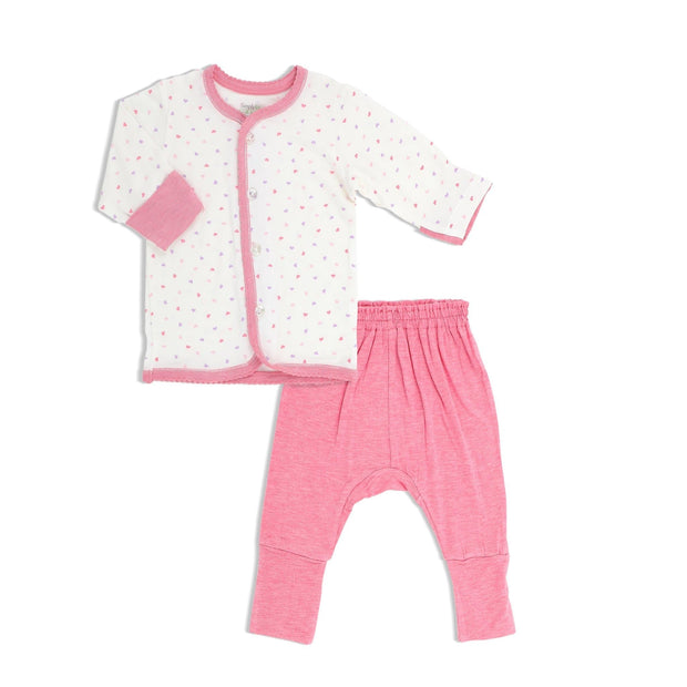 Hearts - Long-sleeved Vest and Pants Set by simplylifebaby