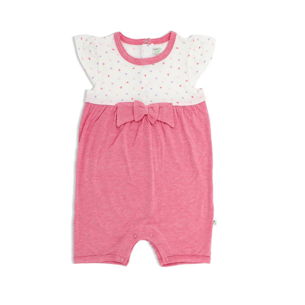 Hearts - Shortall cap-sleeved with bow & puffed trims at neckline - Simply Life