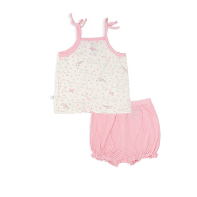 Joy Ride - Blouse with Spaghetti Tie & Bloomer Shorts (2-pc Set) by simplylifebaby