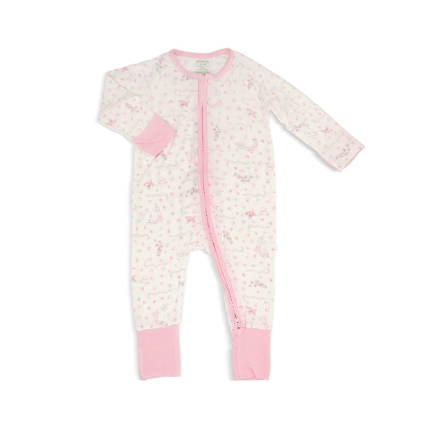 Joy Ride - Long-sleeved Zipper Sleepsuit with Folded Mittens & Footie by simplylifebaby
