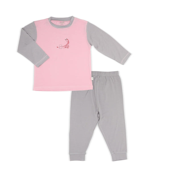 Joy Ride - Pyjamas Set (Pink & Grey with Spot Print) - Simply Life