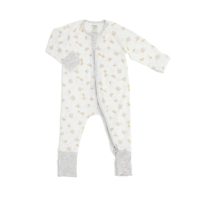 Jungle - Long-sleeved Zipper Sleepsuit with Folded Mittens & Footie - Simply Life