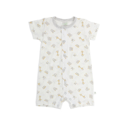 Jungle - Short-sleeved Shortall with Front Buttons - Simply Life