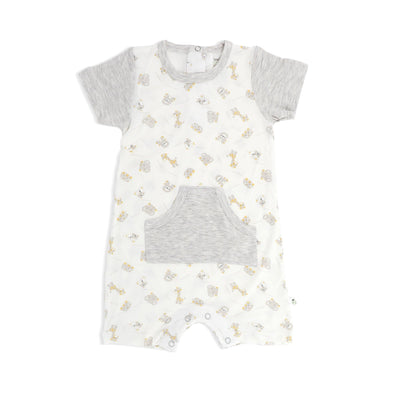 Jungle - Short-sleeved Shortall with Front Pockets - Simply Life