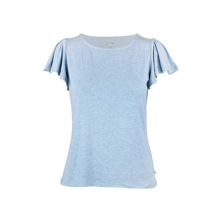 Ladies' Frilled Tee, Sandwashed Blue by simplylifebaby