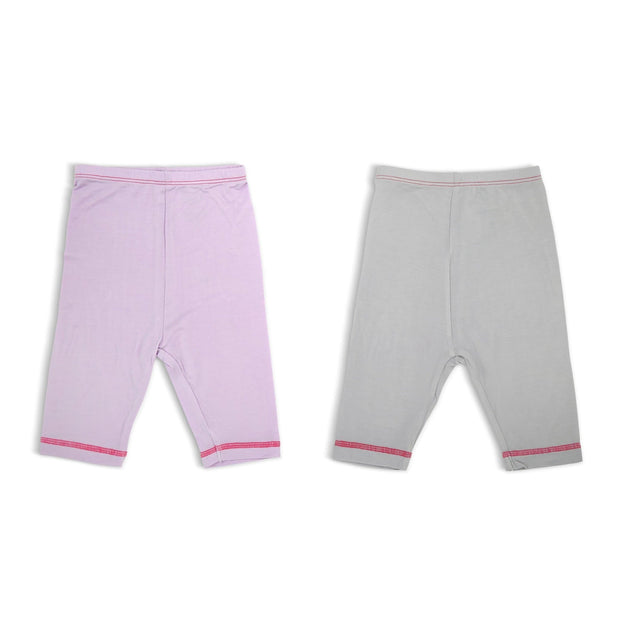 Lilac & Grey - Capri Pants - (2-Pack Set) by simplylifebaby
