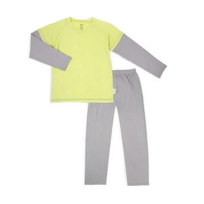 Lime / Grey - Pyjamas Set by simplylifebaby