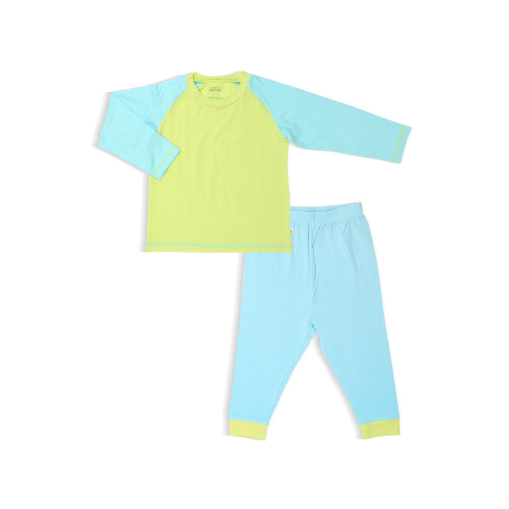 Lime / Turquoise - Pyjamas Set by simplylifebaby