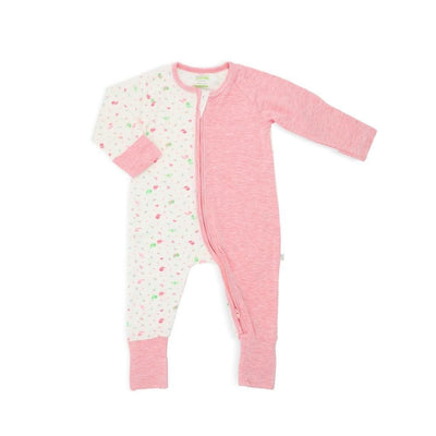 Lovely Birds - Long-sleeved Zipper Sleepsuit with Folded Mittens & Footie by simplylifebaby