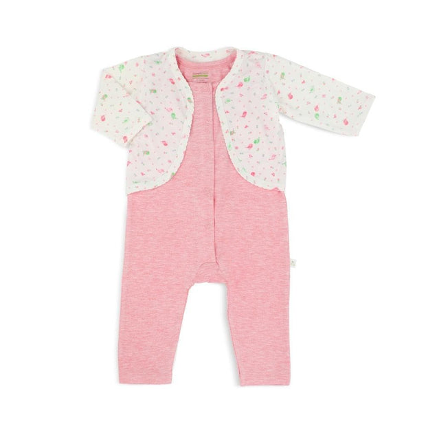Lovely Birds - Sleepsuit with Cardigan (2-pc Set) by simplylifebaby