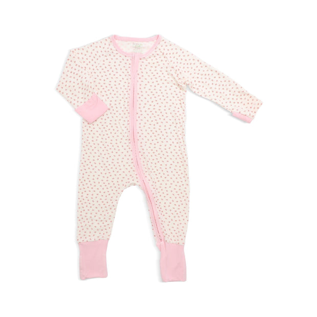 Lovely Butterflies - Long-sleeved Zipper Sleepsuit with Folded Mittens & Footie by simplylifebaby