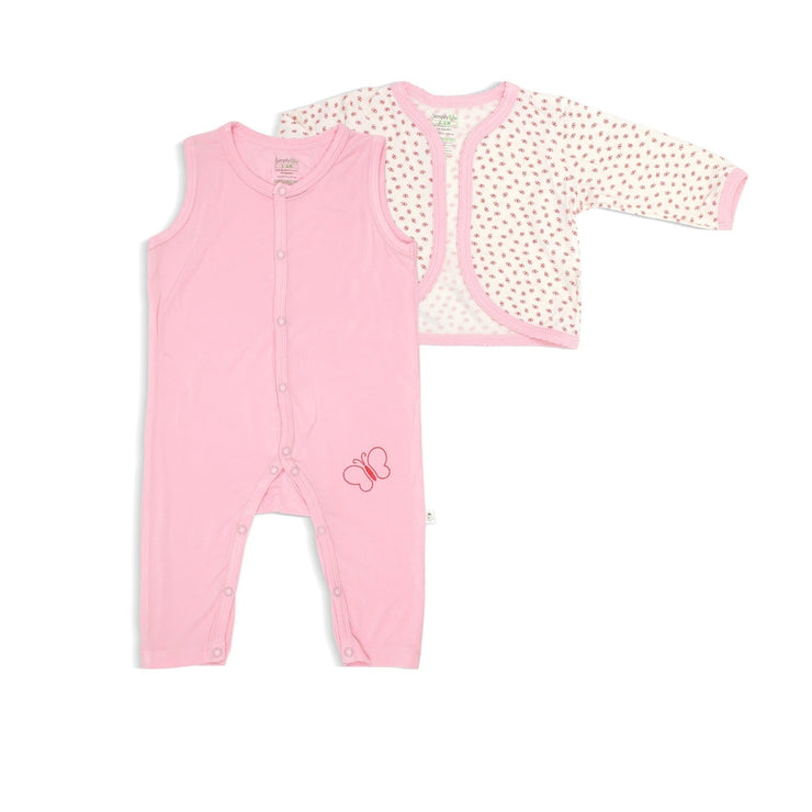 Lovely Butterflies - Sleepsuit with Cardigan (2-pc Set) by simplylifebaby