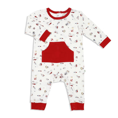 Marine - Long-sleeved Sleepsuit with Front Pocket - Simply Life