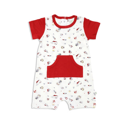 Marine - Short-sleeved Shortall with Front Pockets - Simply Life