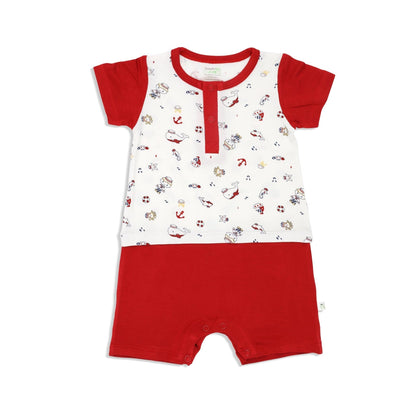 Marine - Shortall (Mock Shorts & Tee Set) - Simply Life