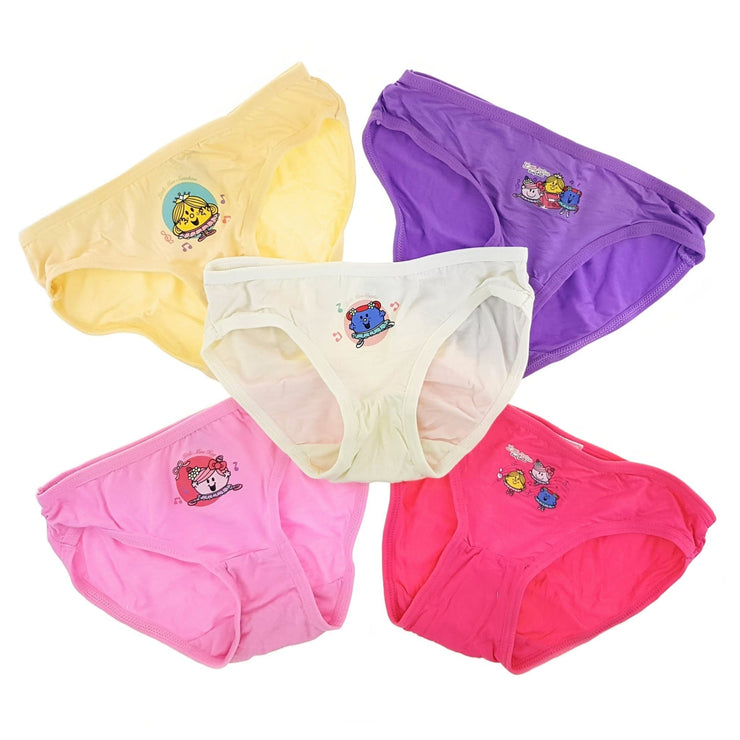 Mr Men and Little Miss - Girls Innerwear (5-Pack Set) by simplylifebaby