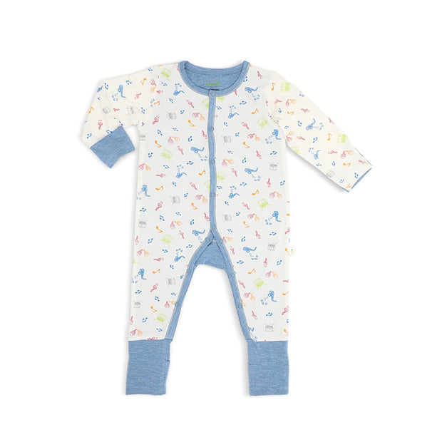 Musical - Long-sleeved Button Sleepsuit with Folded Mittens & Footie by simplylifebaby