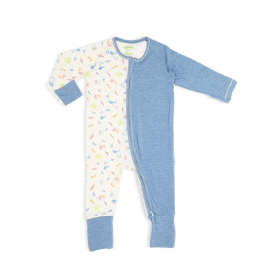 Musical - Long-sleeved Zipper Sleepsuit with Folded Mittens & Footie by simplylifebaby