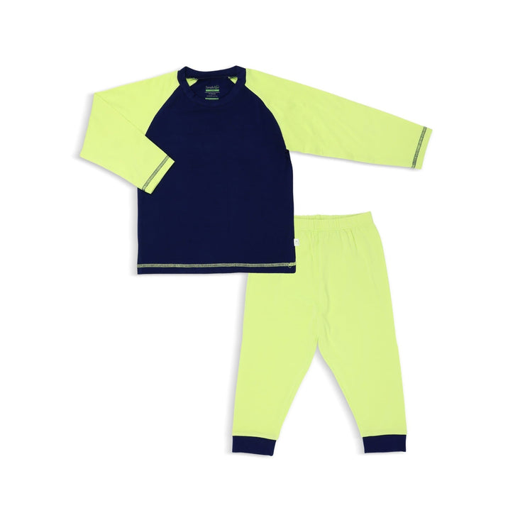 Navy / Lime - Pyjamas Set by simplylifebaby