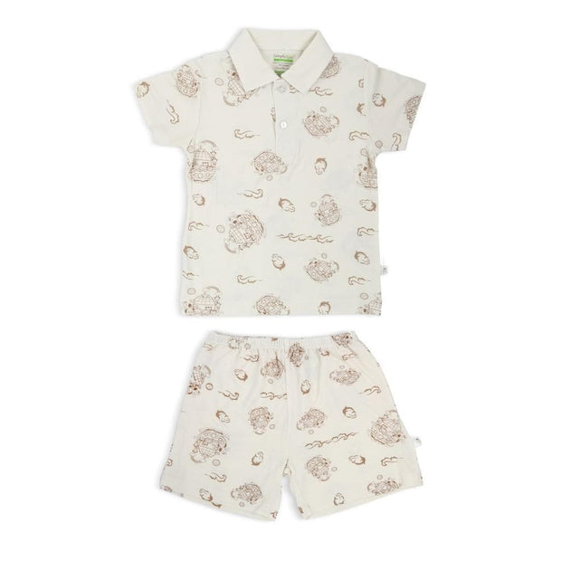 Noah's Ark -  Boys' Shorts & Collar Tee Set by simplylifebaby