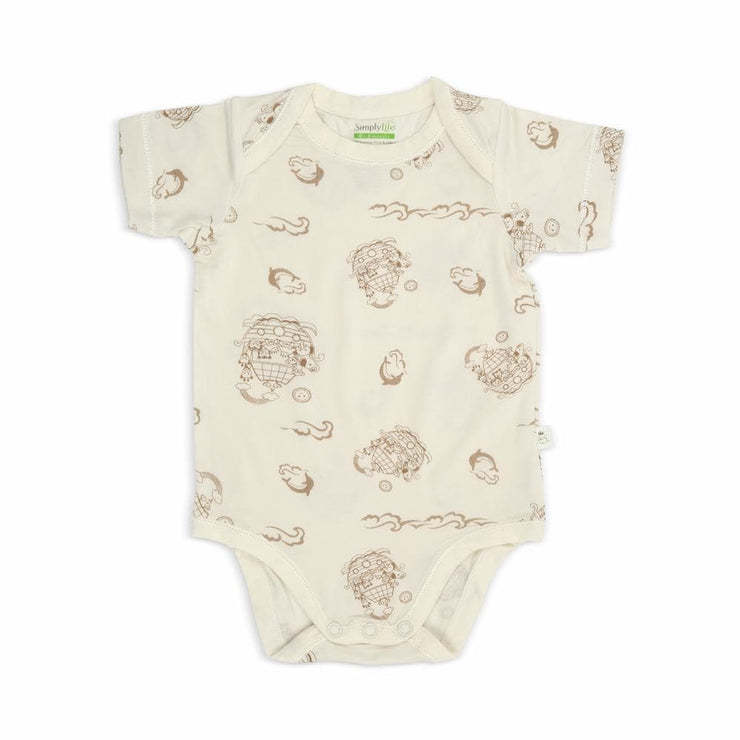 Noah's Ark - Short-sleeved Envelope Romper by simplylifebaby