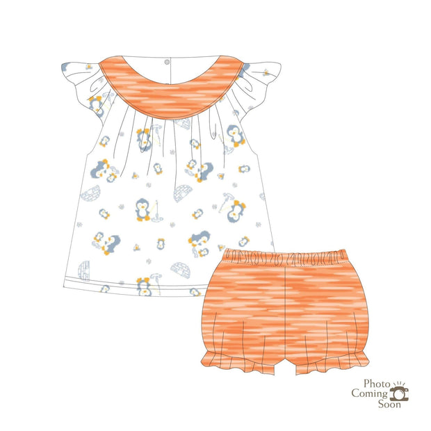 Penguins - Blouse with cap-sleeves & bloomer shorts (2pc Set) - Simply Life