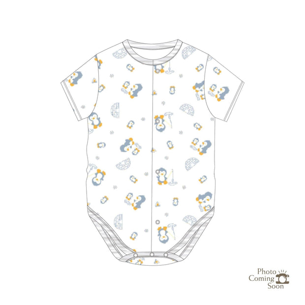 Penguins - Short-sleeved Creeper with Front Buttons - Simply Life