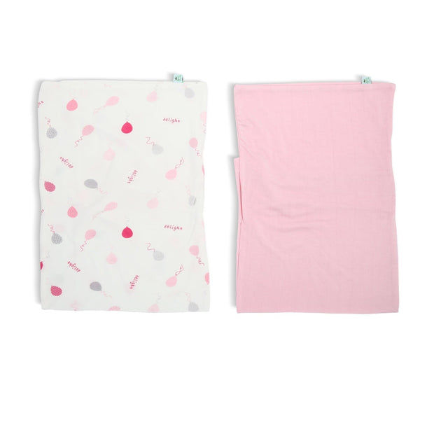 Pink Delight Balloons - Baby Pillowcase (2-Pack Set) - Simply Life