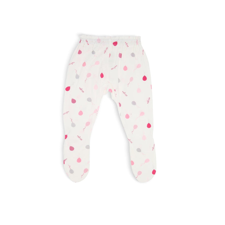 Pink Delight Balloons - Long Pants with Footie by simplylifebaby