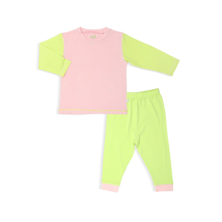 Pink / Lime - Pyjamas Set by simplylifebaby