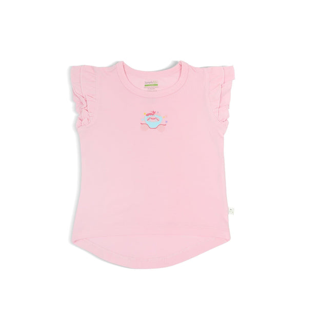 Princess - Girls' Tee with Double Frill Sleeves by simplylifebaby