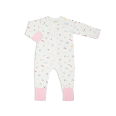 Princess - Long-sleeved Zipper Sleepsuit with Folded Mittens & Footie by simplylifebaby